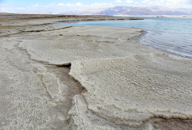 salt deposits at the Dead sea